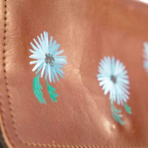 Uit de Kast Fashion Bloemen tas leder