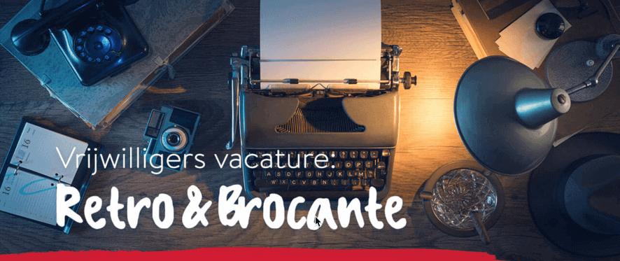 Vrijwilligers vacature - Brocante Vintage