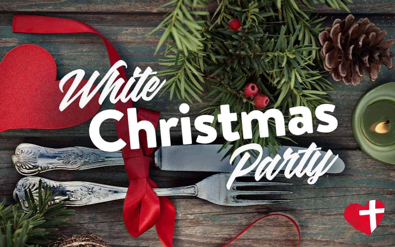 White christmas dinner party