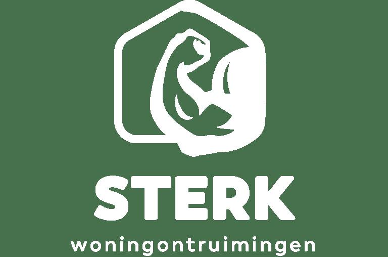 STERK Ontruiming logo wit