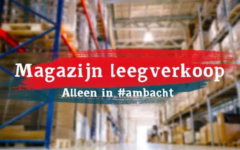 Kringloopwinkel aanbieding magazijn leegverkoop in Hendrik-Ido-Ambacht